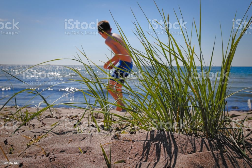 The beach of Degersand in Aland islands stock photo