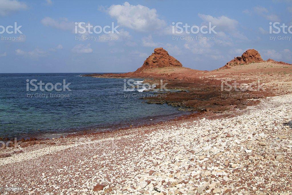 The beach of Dihamri on Socotra island stock photo