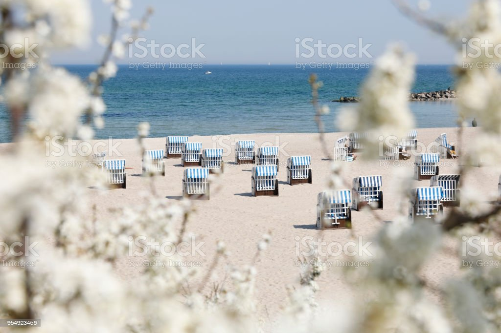 The Beach of Kühlungsborn, Baltic Sea, Germany stock photo