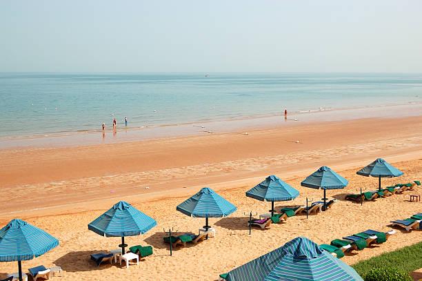 Der Strand von Luxushotel, Ras Al Khaimah, VAE – Foto