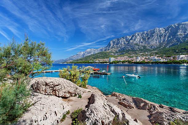 The beach of Makarska, Croatia - foto de stock