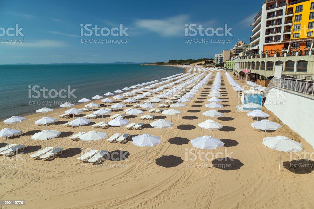 The beach of Nessebar, Bulgaria stock photo