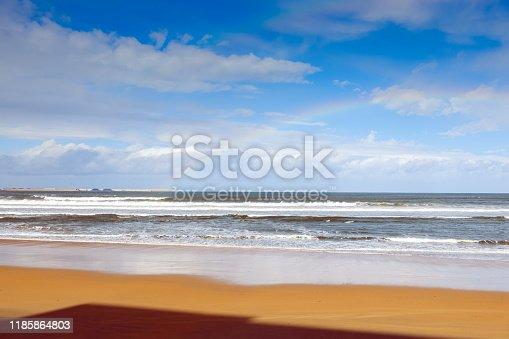 istock The beach of San Lorenzo in November. Gijón. Spain 1185864803
