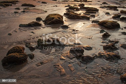 The Beach Of Tioman Island At Low Tide Stock Photo & More Pictures of Backgrounds