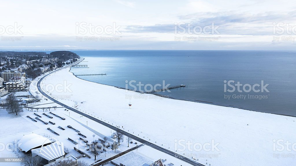 The Beach of Travemuende (Hanseatic City Luebeck), Baltic Sea stock photo
