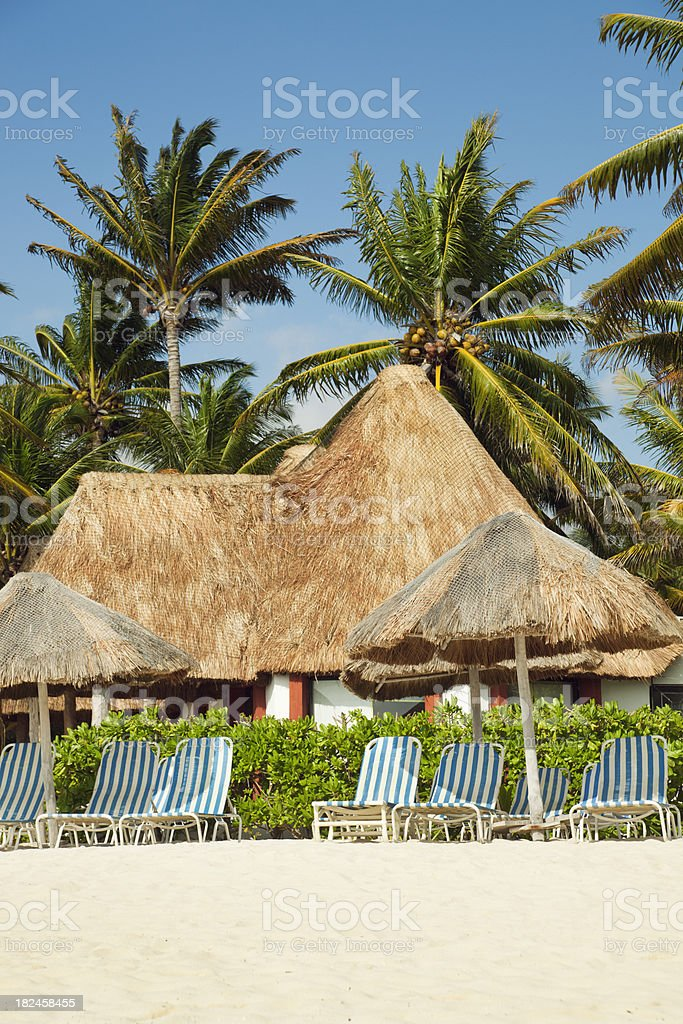El Beach, complejos turísticos de Playa del Carmen, México, Vermont foto de stock libre de derechos