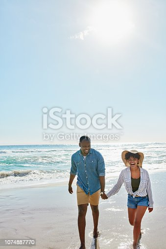 istock The beach, the best place for some bonding 1074887770