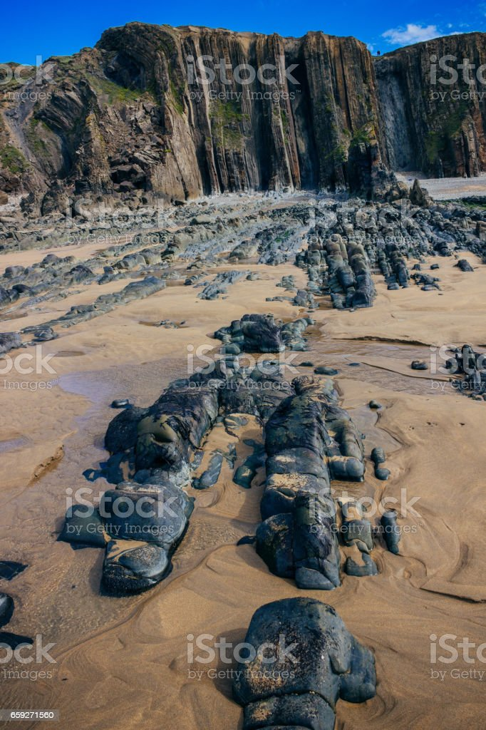 The Beach Under Maer Cliff stock photo