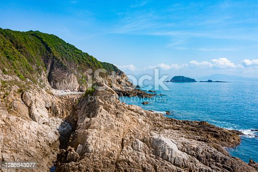 The beach view in hong kong global geopark, Tap Mun or Grass Island