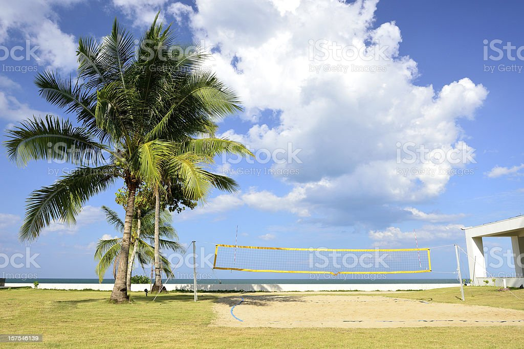 The beach volleyball field. royalty-free stock photo
