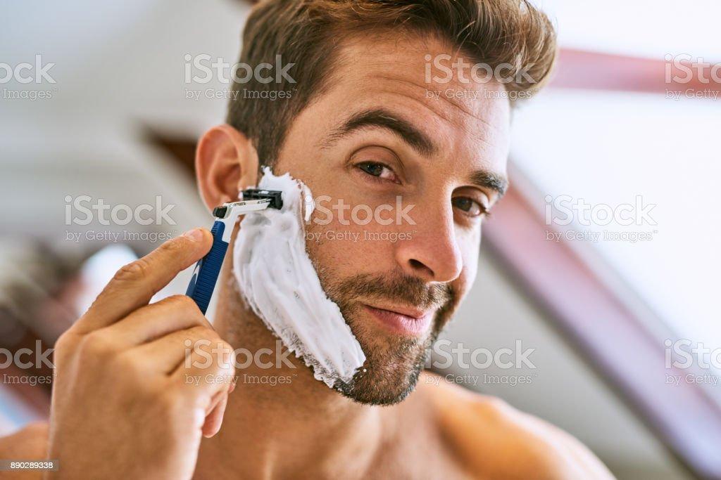 The beard has to go stock photo