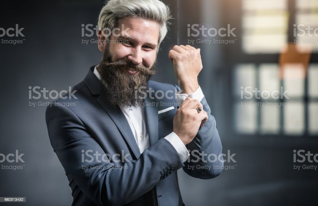 The Bearded Businessman foto de stock libre de derechos