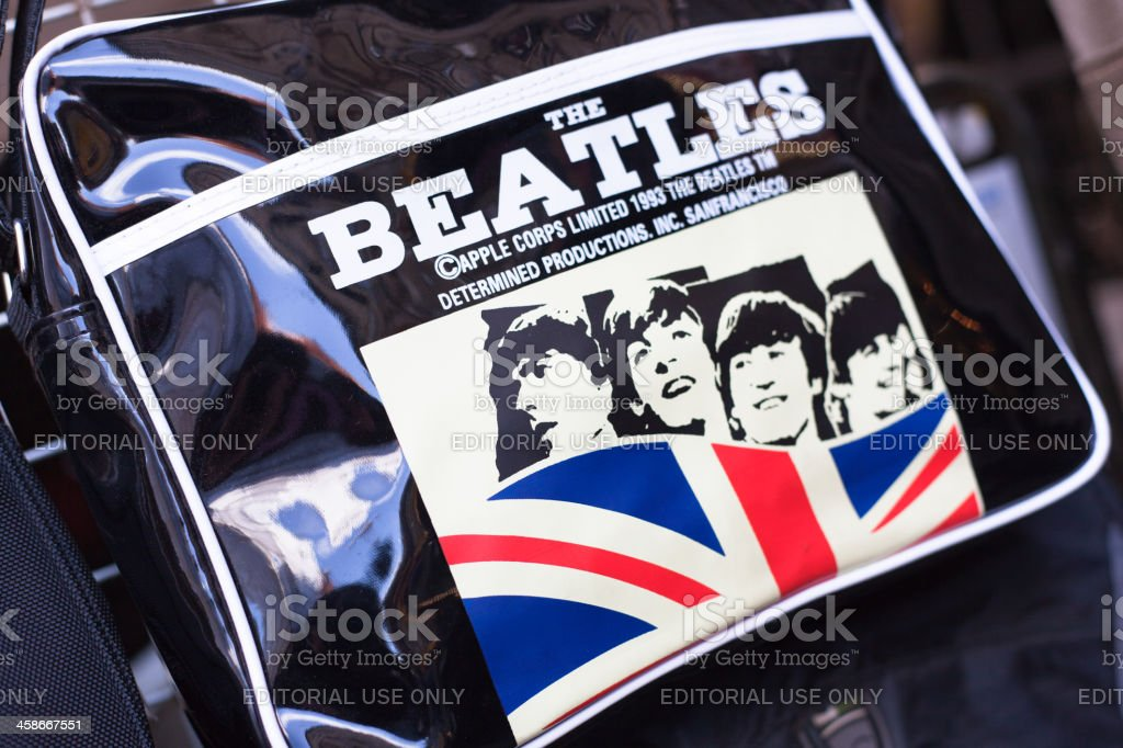The Beatles Bag in London stock photo