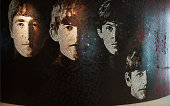 Penang, Malaysia - September 10, 2010: A mosaic wall of The Beatles in Hard Rock Hotel Penang.