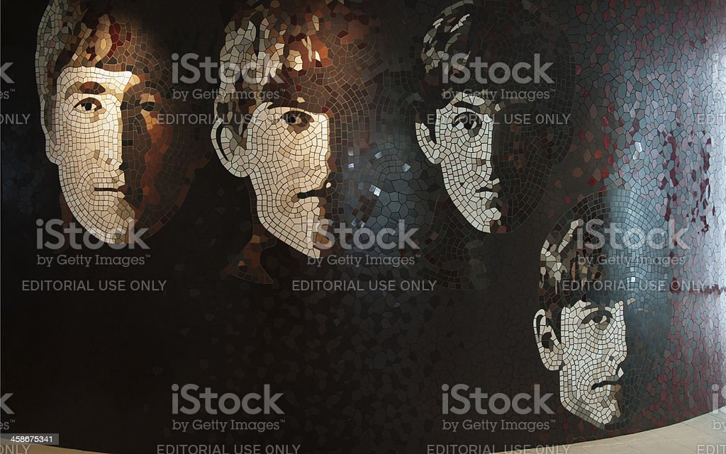 The Beatles Mosaic Wall stock photo