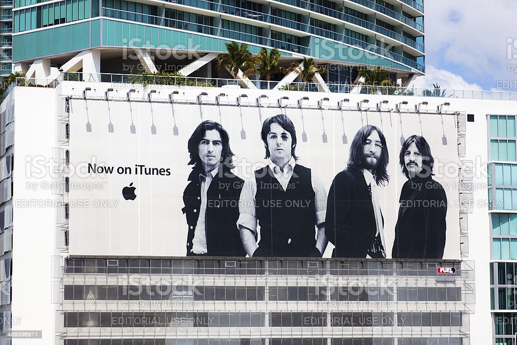 The Beatles agora no iTunes - foto de acervo