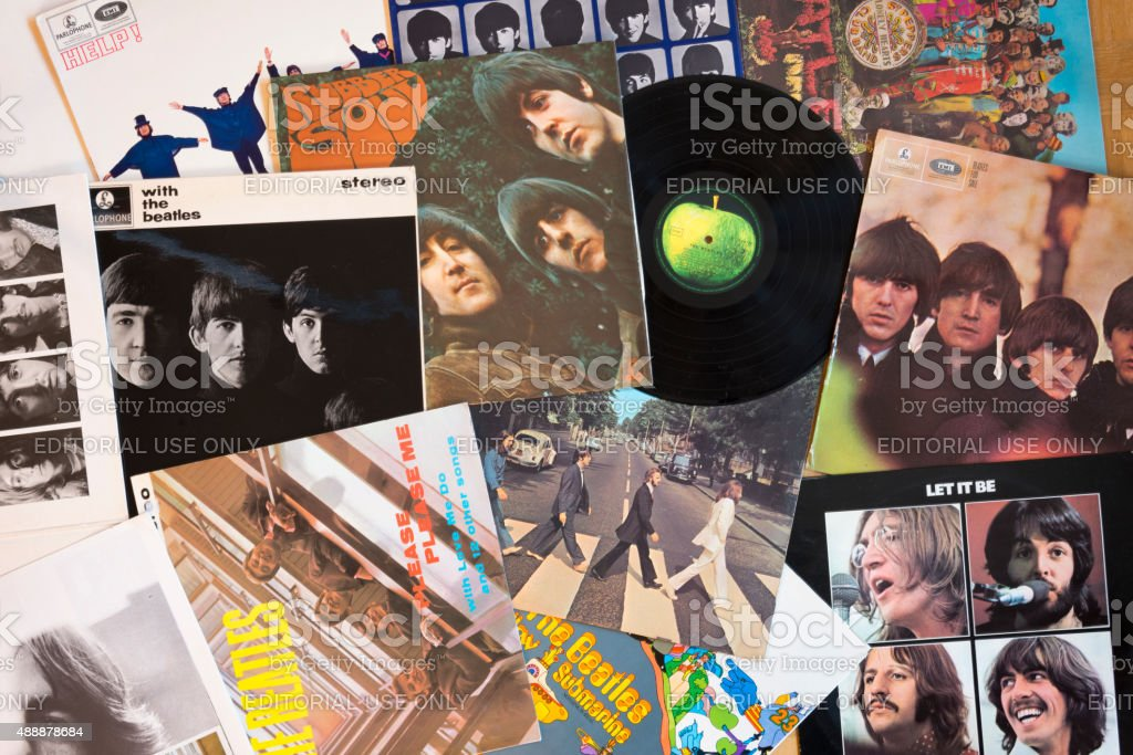 The Beatles Original Vinyl stock photo