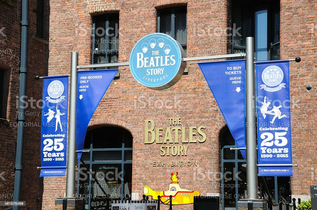 A história dos Beatles Exhibition Building, Liverpool. - foto de acervo