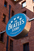 Liverpool, UK - April 18, 2014: The 'Beatles Story' Exhibition in Liverpool on 18th April 2014.