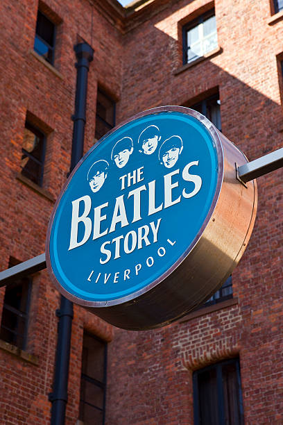 "the beatles story "",los beatles historia de exposiciones"" - beatles band stock-fotos und bilder"