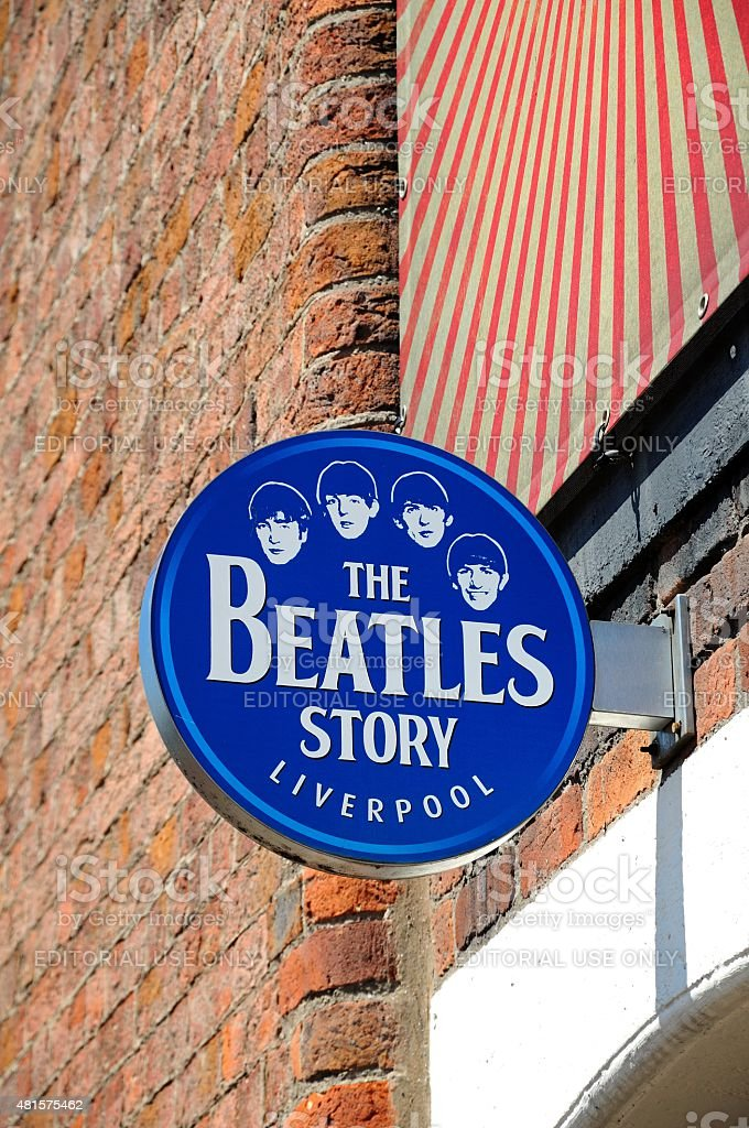 The Beatles Story Liverpool Sign. stock photo