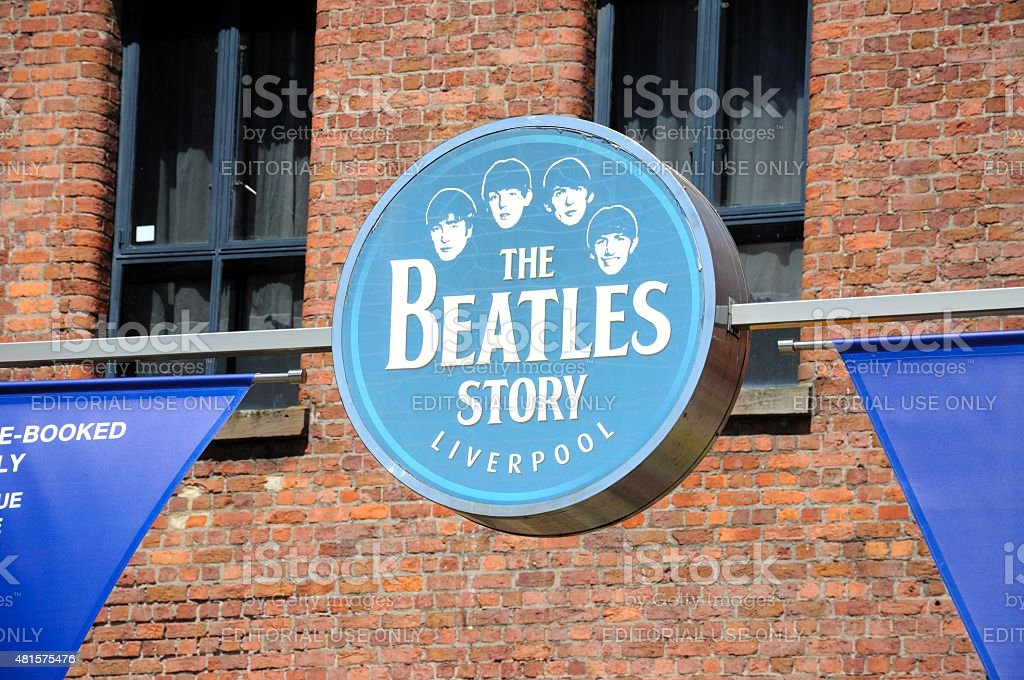 The Beatles Story Liverpool placa. - foto de acervo