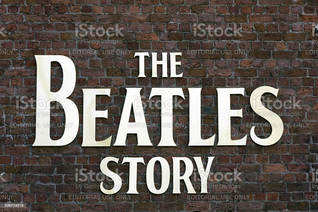 The Beatles Story Sign Albert Dock Liverpool stock photo