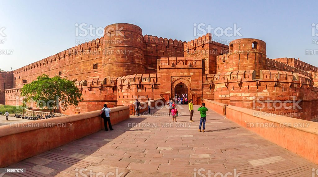 The beautiful Agra Fort stock photo