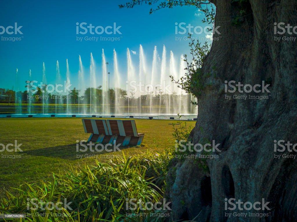 The Beautiful Al Shaheed Park In Kuwait City Stock Photo