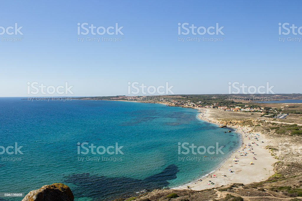 the beautiful beach of Sardinia in a calm day foto royalty-free
