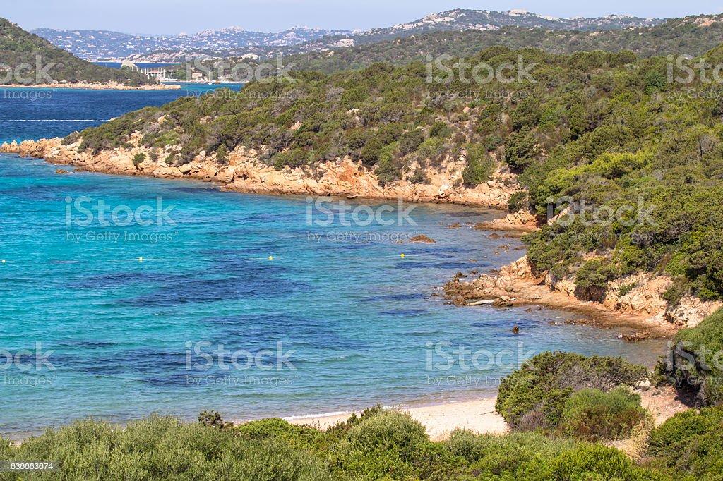 The beautiful beach on Sardinia island, Italy stock photo