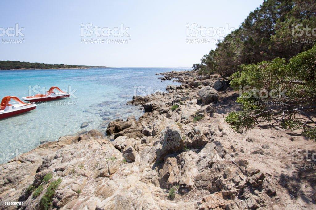 The beautiful beach on Sardinia island, Italy royalty-free stock photo