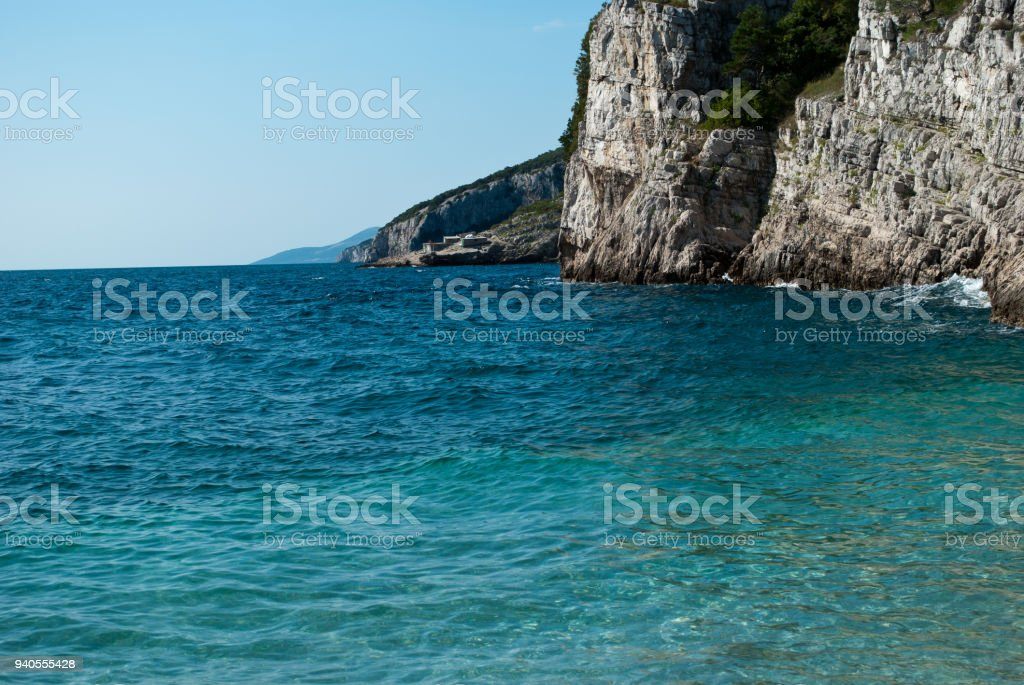 the beautiful beaches of Kvarner, to the east of the Istria peninsula stock photo