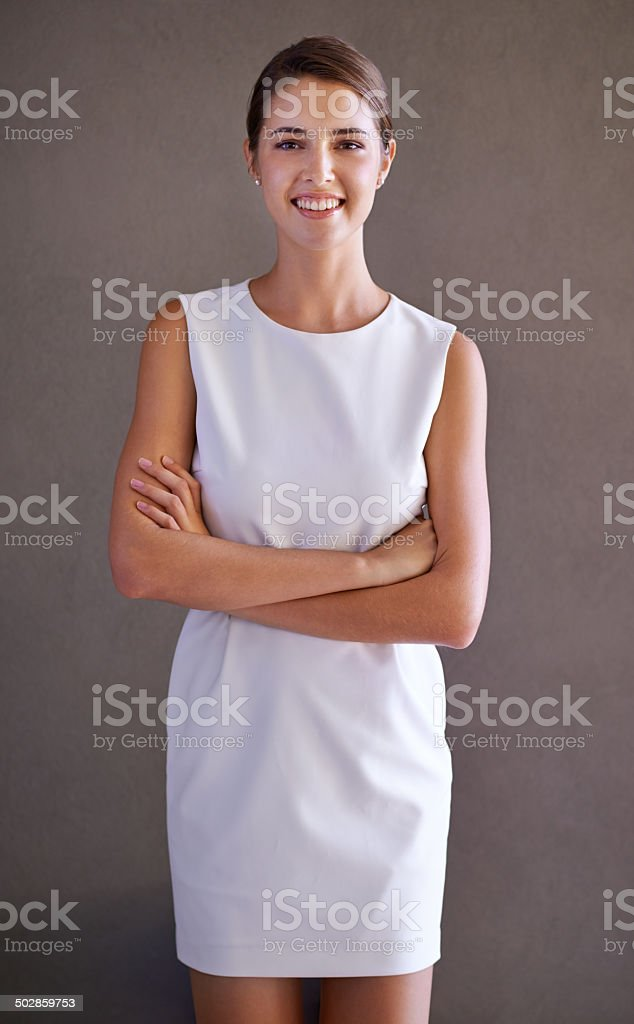 The beautiful business professional stock photo