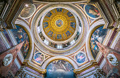 The beautiful Cappella Chigi designed by Raffaello, in the Basilica of Santa Maria del Popolo in Rome, Italy. April-15-2018