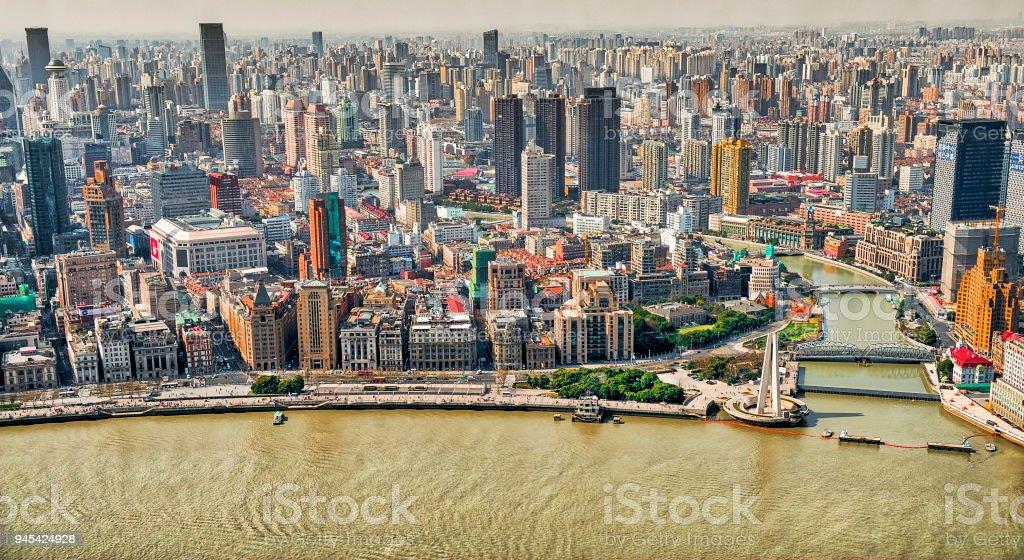 The beautiful city of Shanghai stock photo