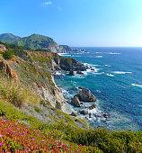Beautiful rocky coastal landscape at Big Sur, California, USA