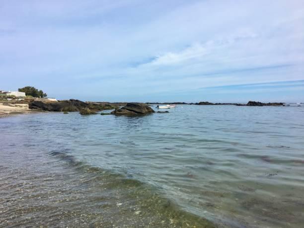 The beautiful coast of Île d'Yeu. stock photo