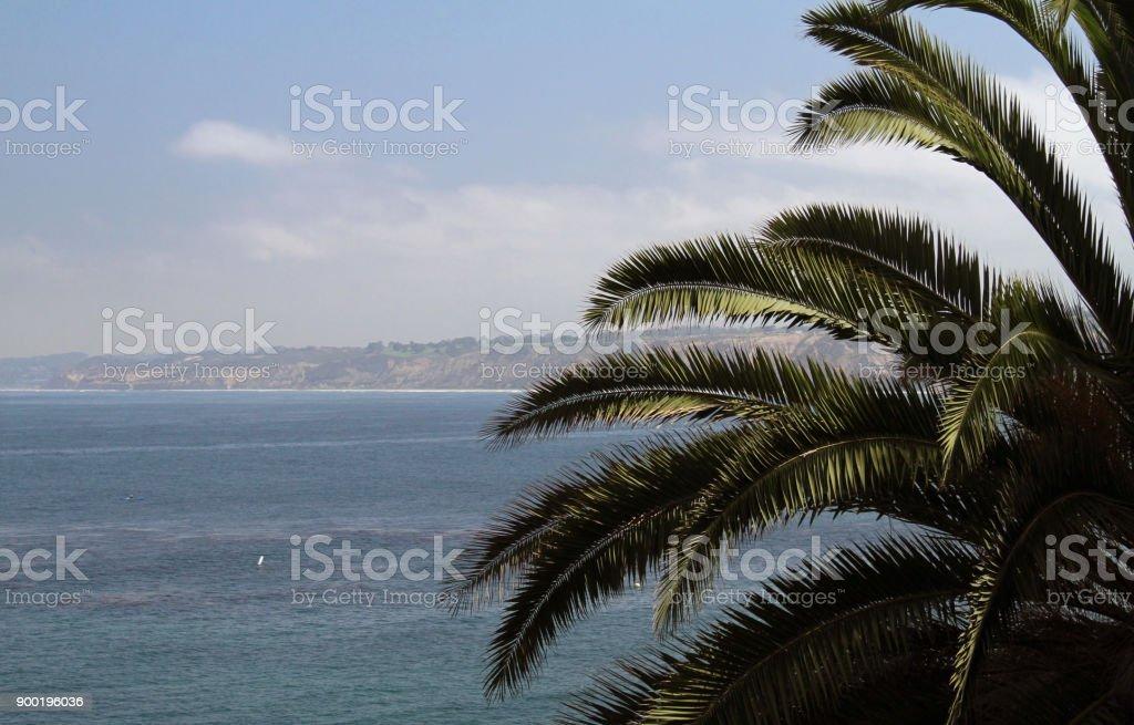 The beautiful coast of San Diego, California stock photo