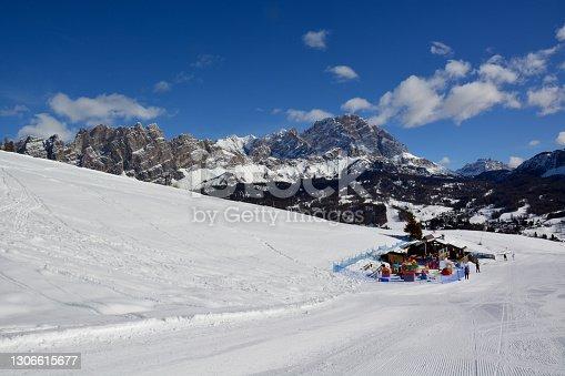 istock the beautiful cortina d'ampezzo with Monte Cristallo in the background 1306615677
