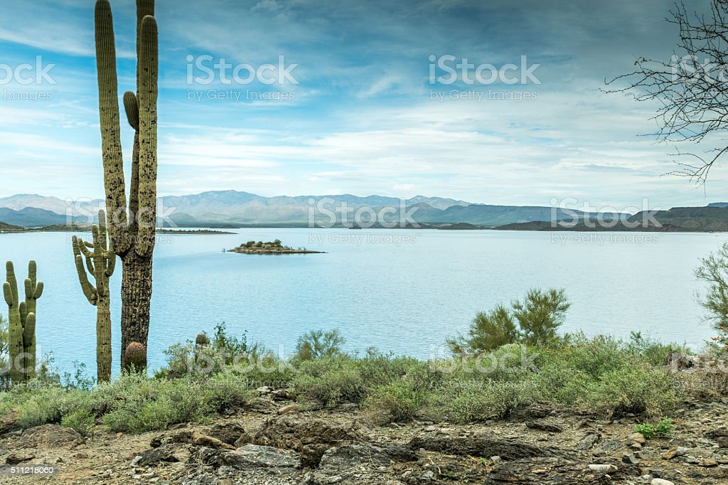 The Beautiful Diverse Landscape of Arizona stock photo