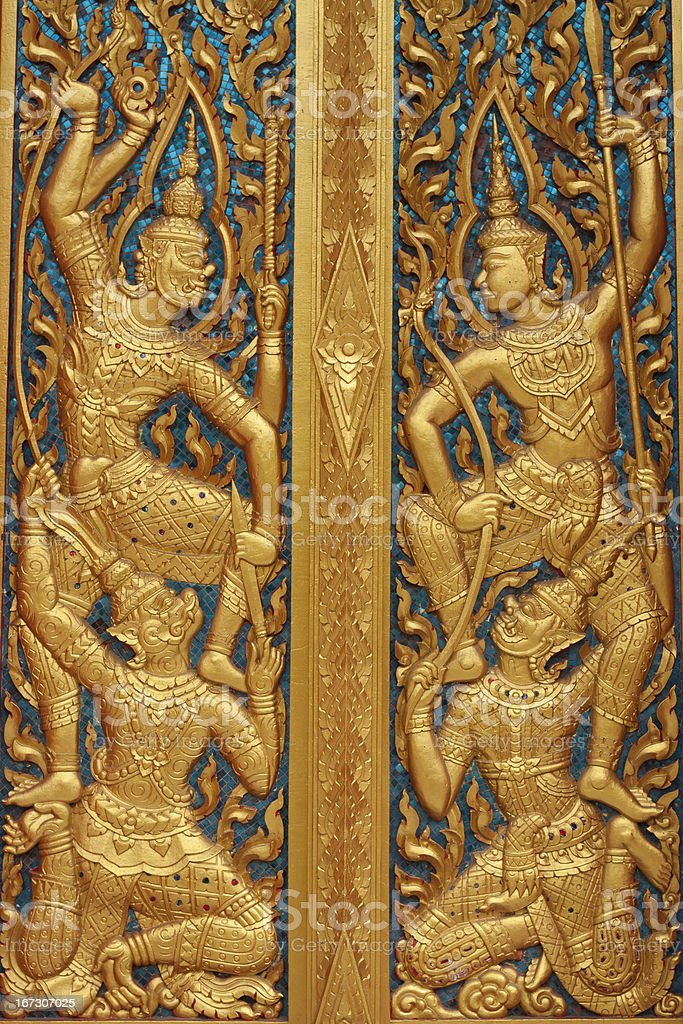 The beautiful door temple in yala  thailand royalty-free stock photo