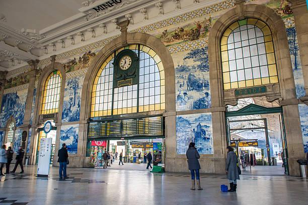 Die wunderschönen Eingang zum Bahnhof Sao Bento aus – Foto