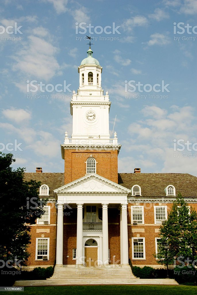 The beautiful exterior of Johns Hopkins on a sunny day stock photo