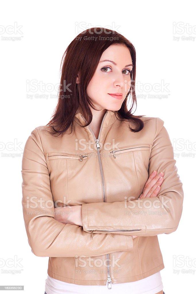 Das schöne Mädchen in eine Jacke – Foto