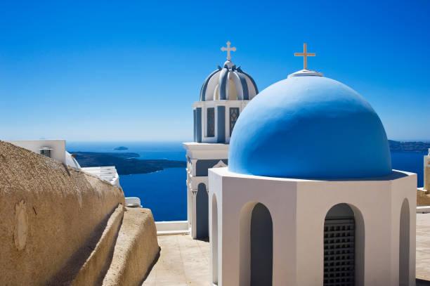 美しいギリシャのサントリーニ島 ストックフォト
