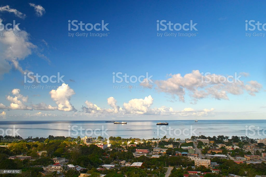 The beautiful island of Saipan stock photo