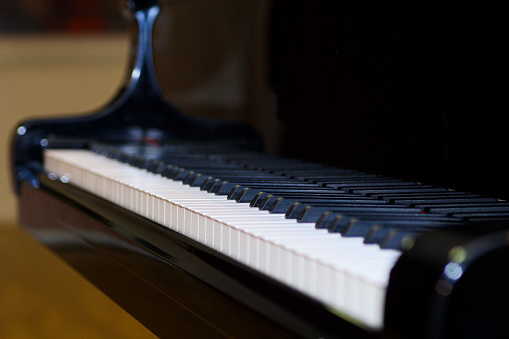 The beautiful Keyboard of a Grand Piano