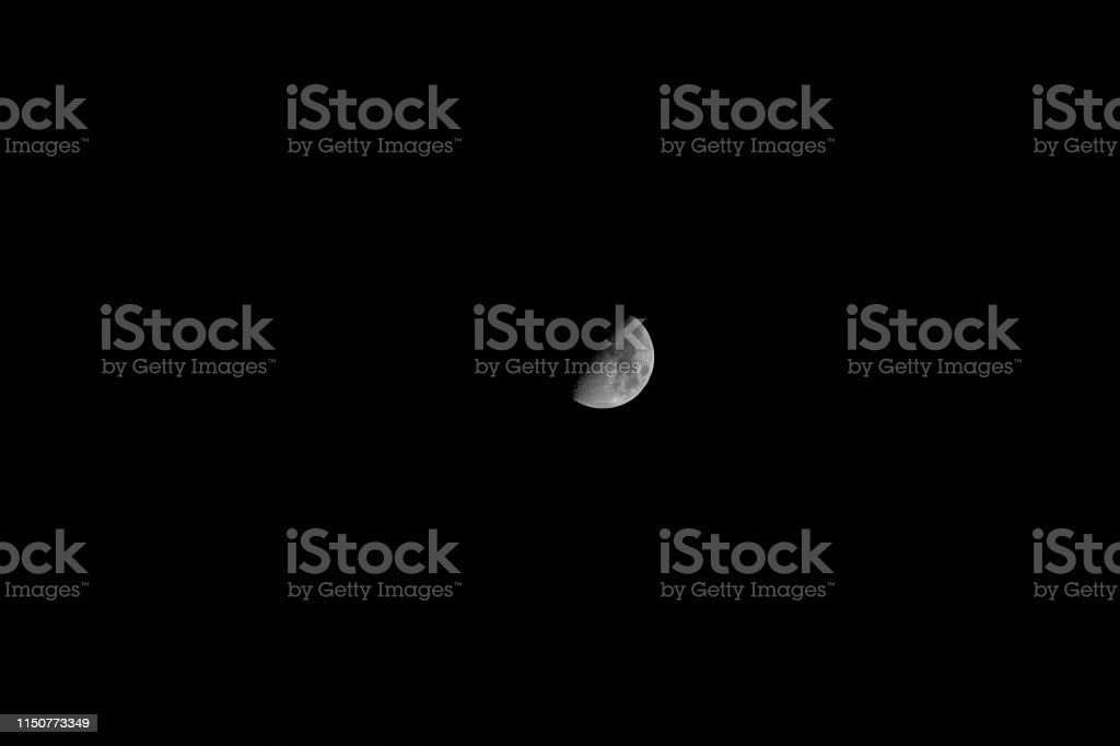 The beautiful landscape black sky with moon