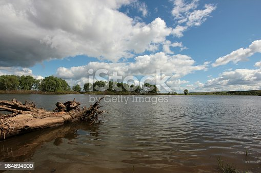 The Beautiful Landscape With Low Clouds Over The River Stock Photo & More Pictures of Backgrounds